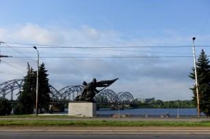Riga sculpture river