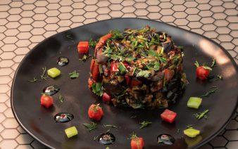 Eggplant salad vegan yerevan