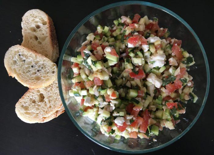 Zucchini and Feta Bruschetta
