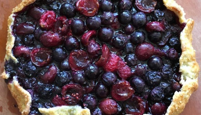 Berry and Cherry Galette