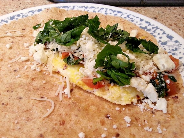 Spinach and Feta Egg Wrap