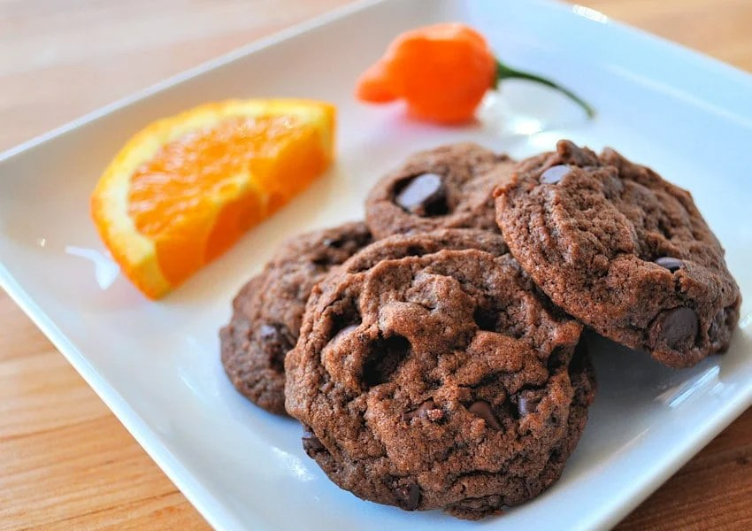 Habanero and Orange Chocolate Chip Cookies