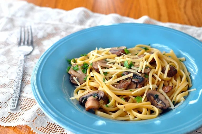 Sage Baby Bella Mushrooms with Pasta