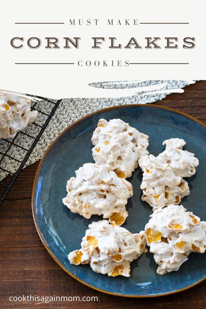 pinterest image for corn flakes cookies