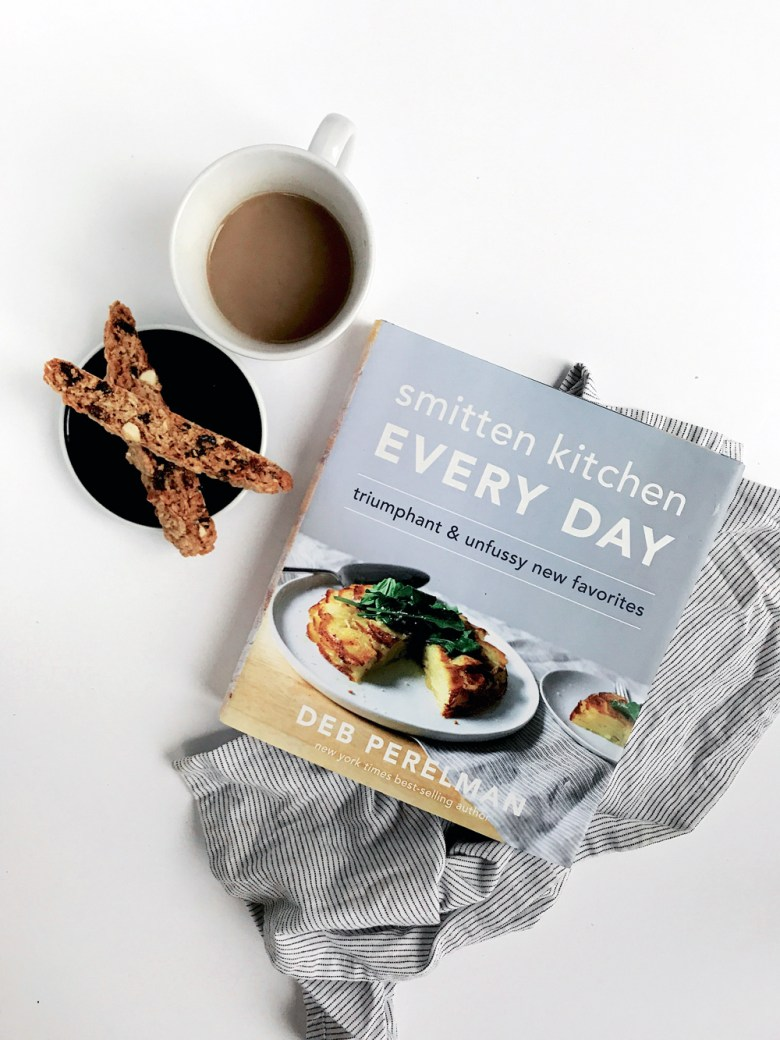 Smitten Kitchen cookbook with biscotti