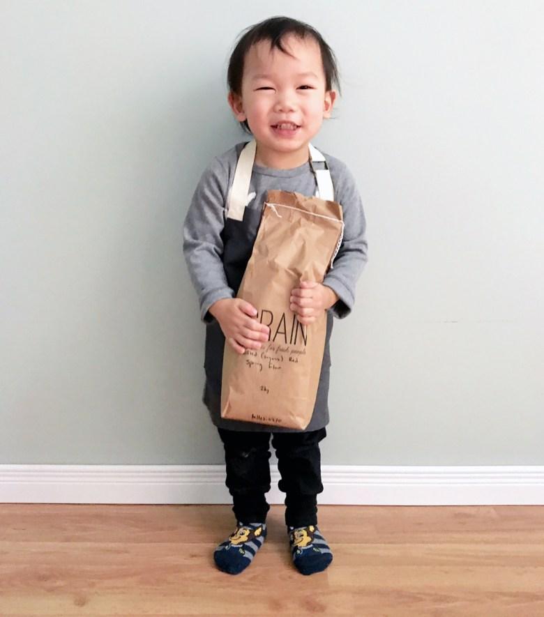 Marcus with flour