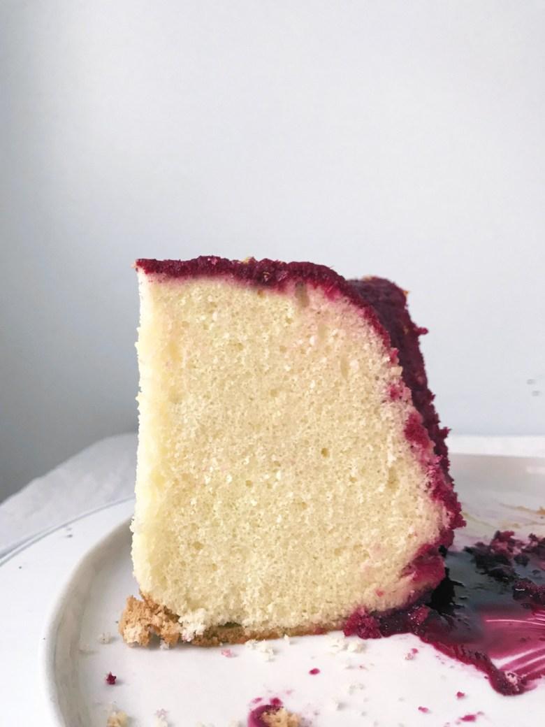 sponge cake slice