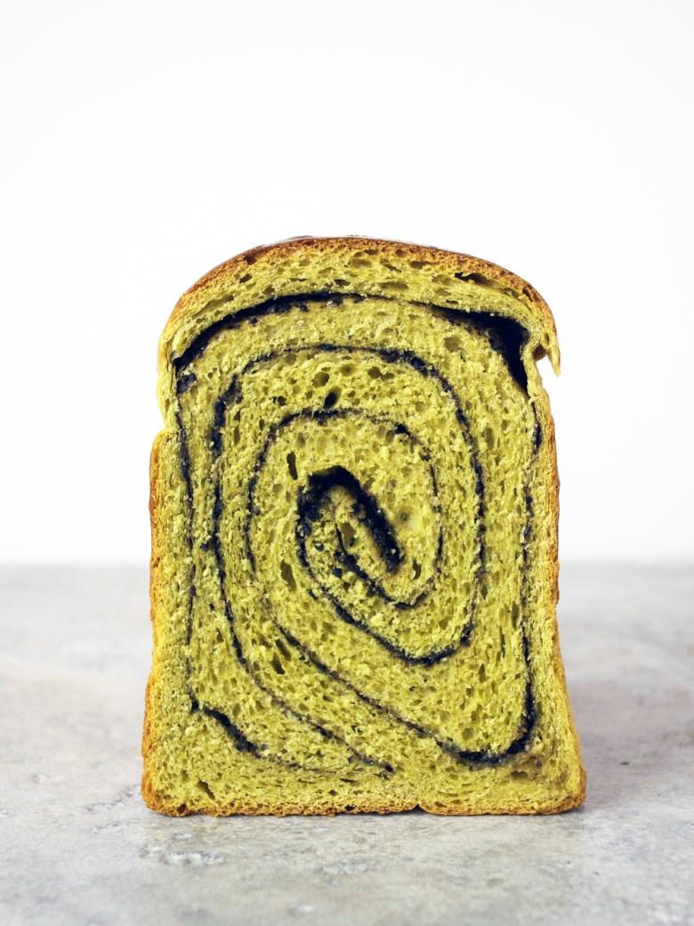 matcha black sesame swirl bread 2