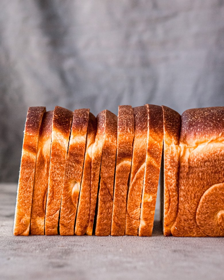 sliced soft sourdough sandwich bread