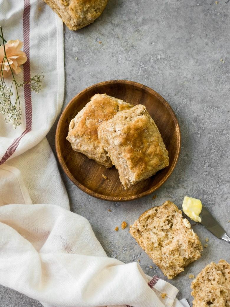 spelt buttermilk biscuits split