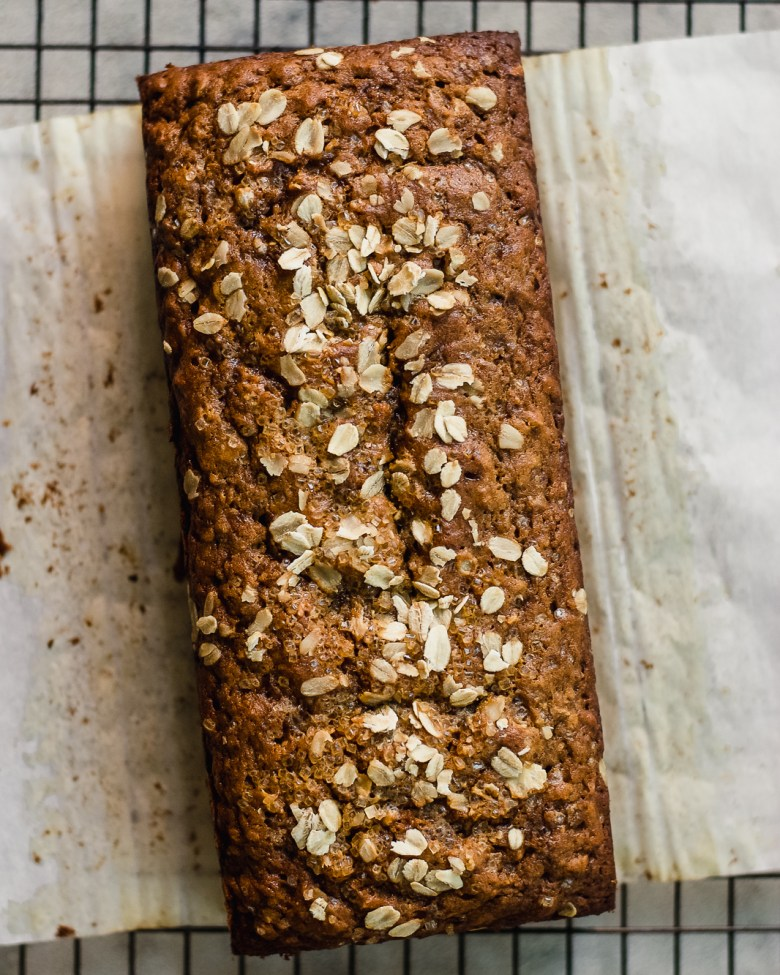 apple ginger loaf from top
