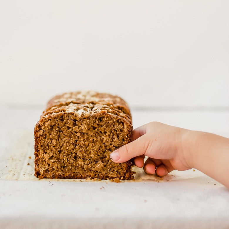apple ginger loaf grab slice