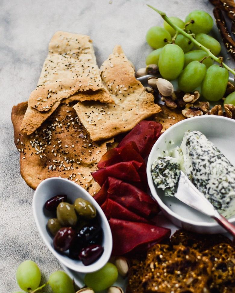 sourdough crackers plate 2