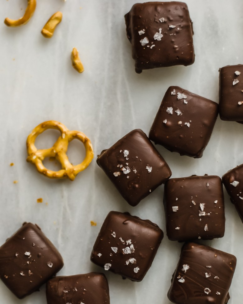 pretzel salted caramels