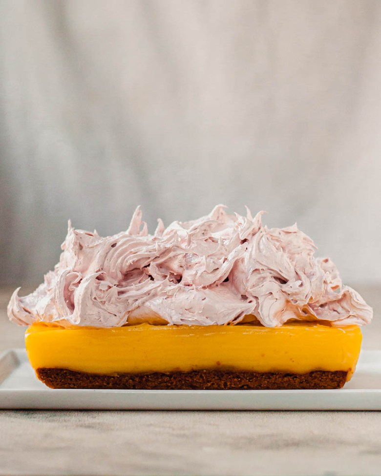 lemon pie bars strawberry meringue