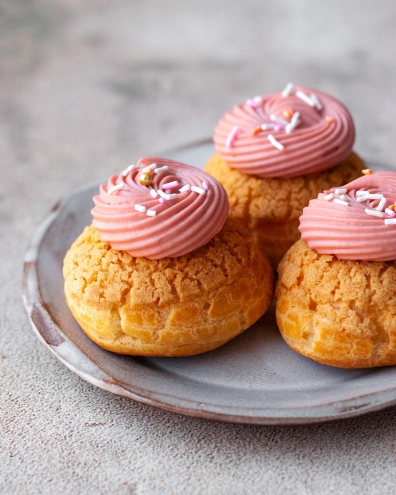 strawberry mango cream puffs