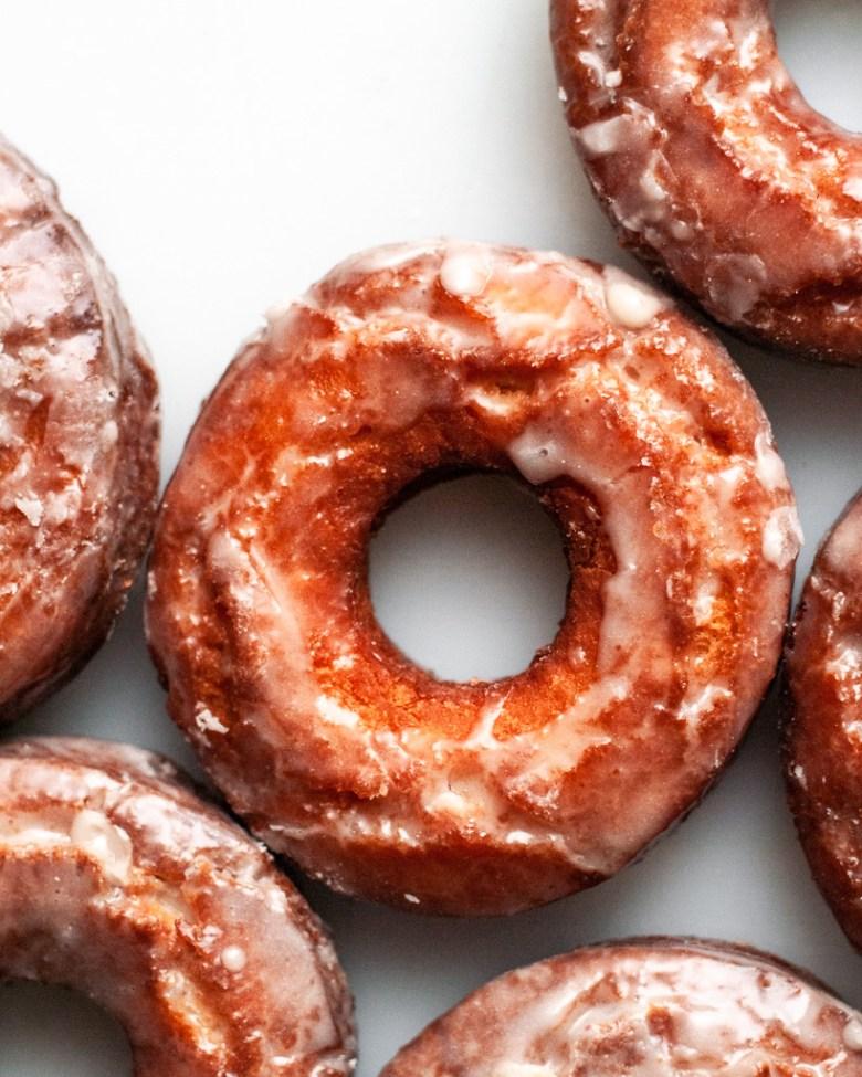 sour cream cardamom donuts
