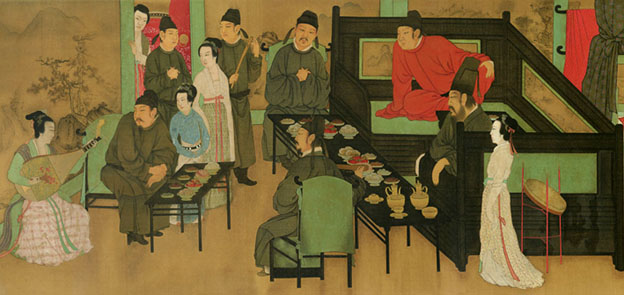 Rice wine and concubines.