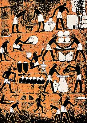 Egyptians getting their brew on.