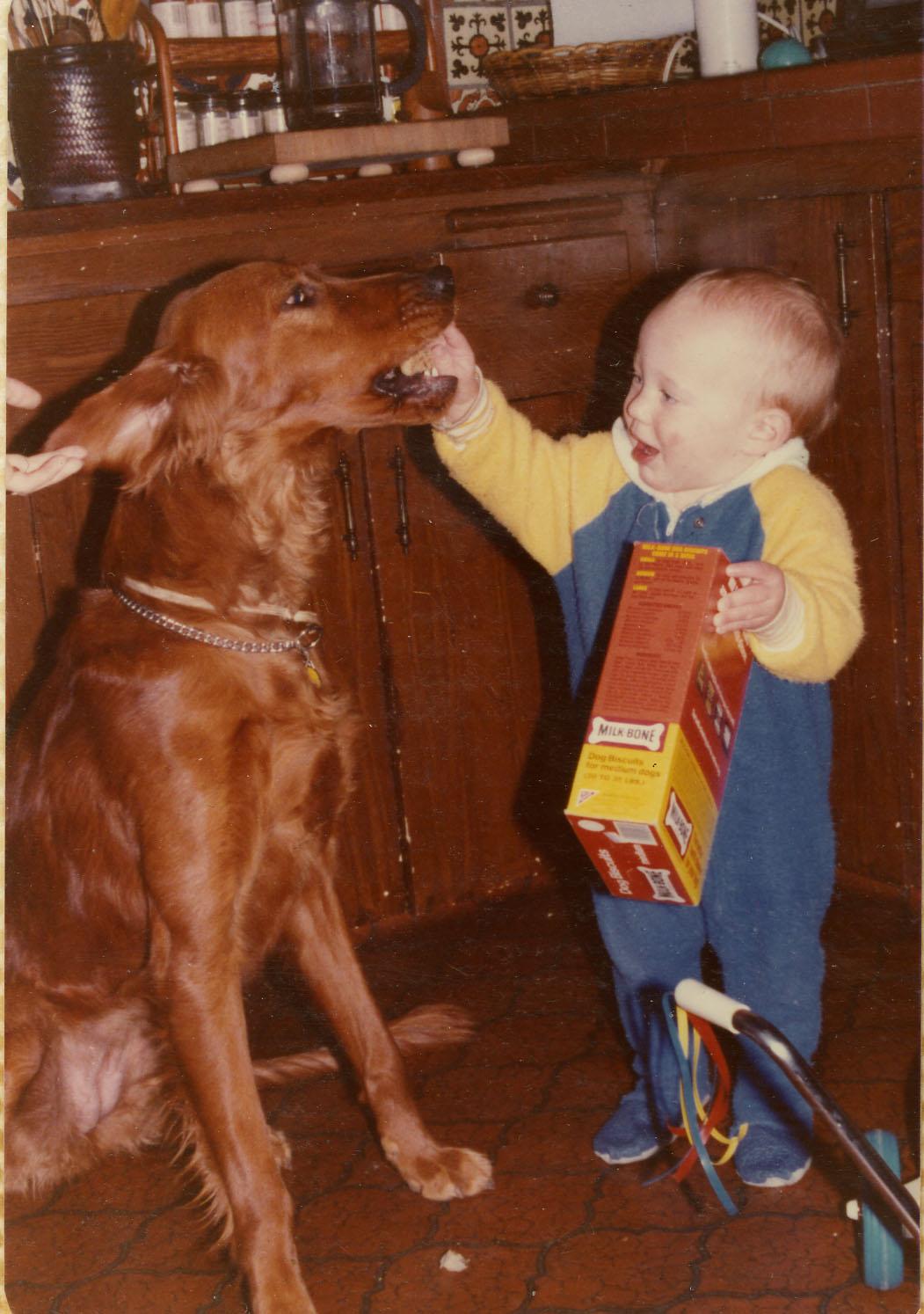 Spencer is always feeding someone.