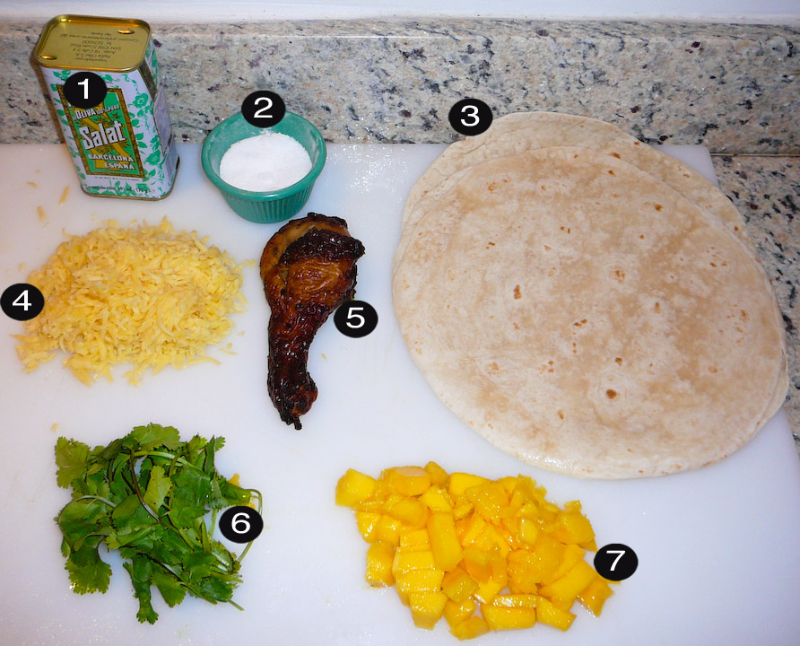 chicken-mango-quesadilla-prep