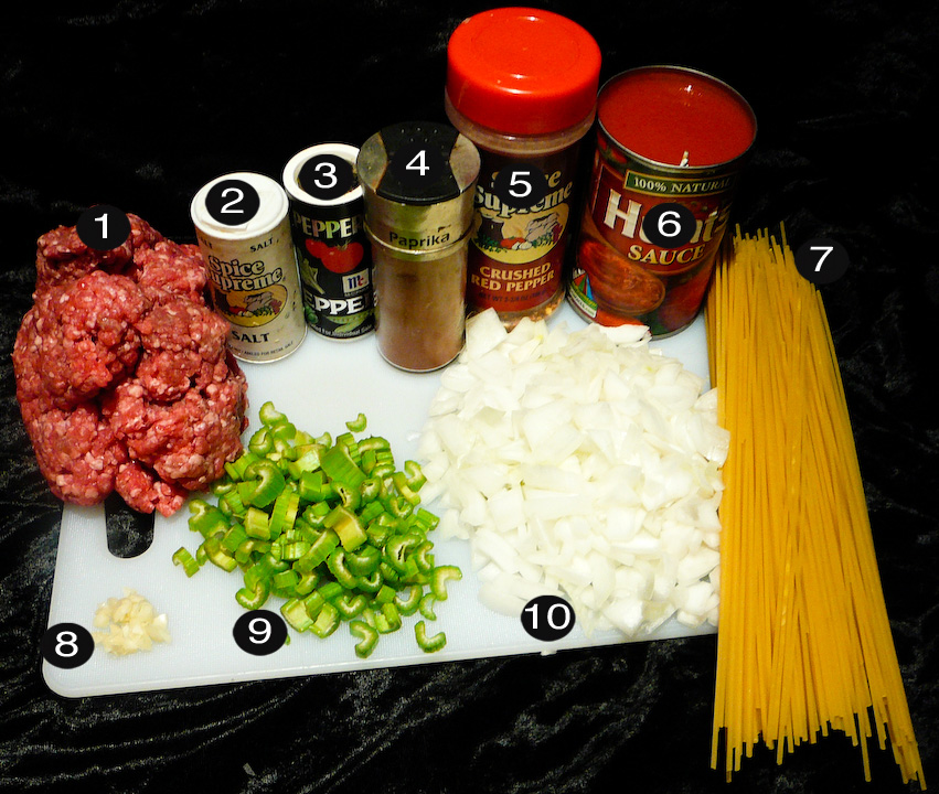 Spaghetti meatball prep