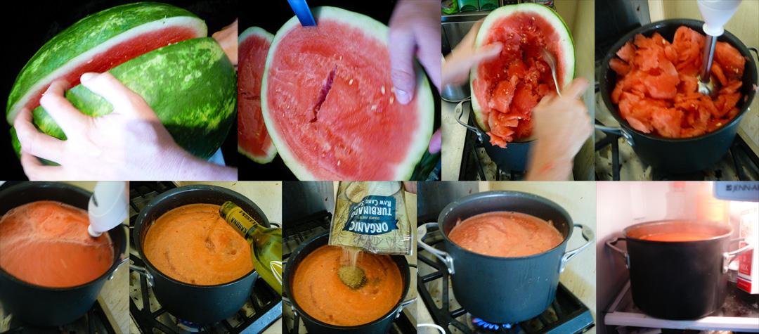 viagra-melon-soup-melon-puree-boil