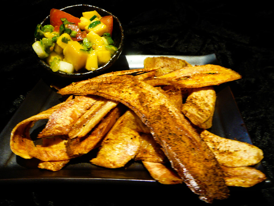plantain chips served
