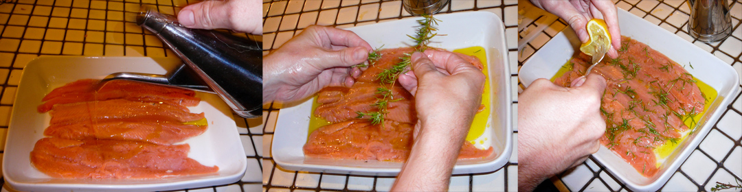 salmon pasta marinate