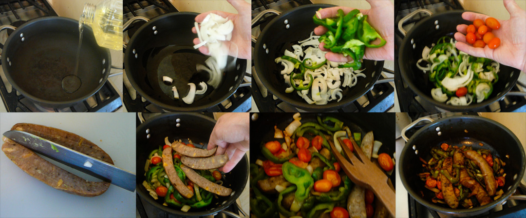 sausage n peppers saute