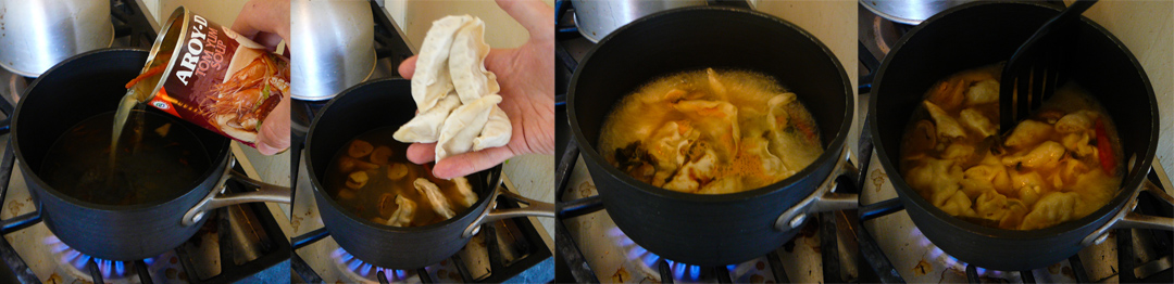 random thai soup boil