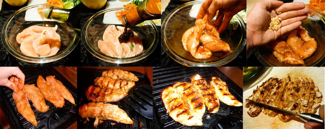 bbq chop chicken salad chicken