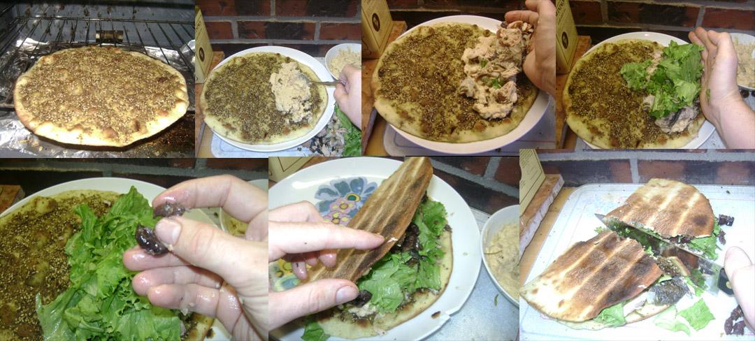 leftover salmon sinwich assemble