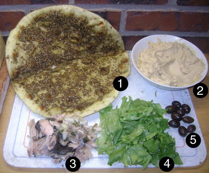 leftover salmon sinwich prep