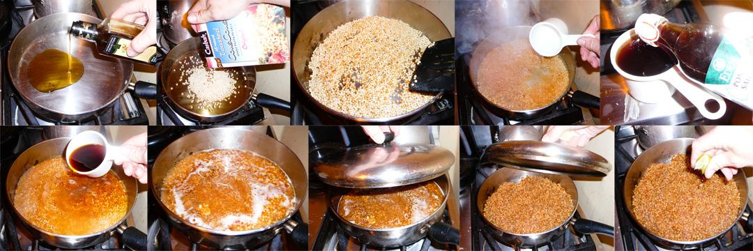 ponzu couscous toast boil