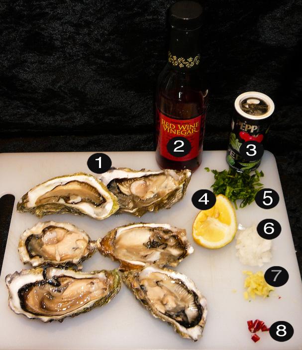 raw oysters prep