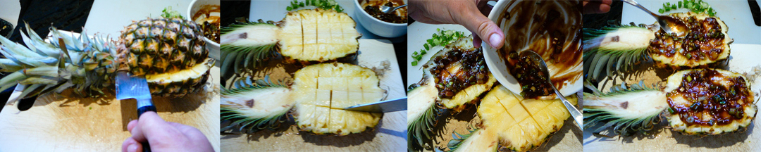 bbq pineapple split marinate