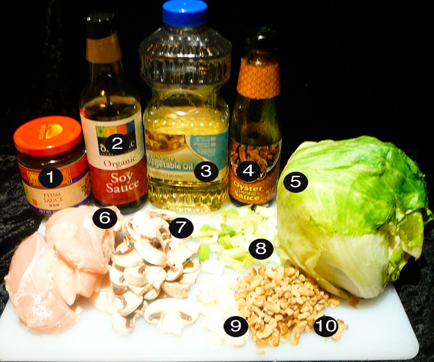 chicken lettuce d-cups prep