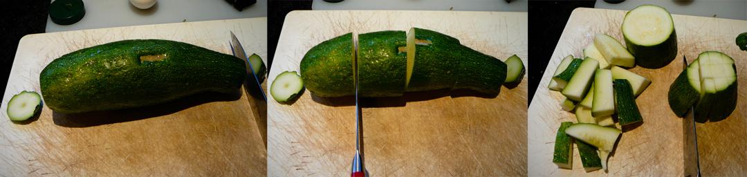 zucchini sticks chop
