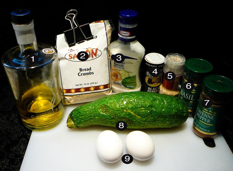 zucchini sticks prep