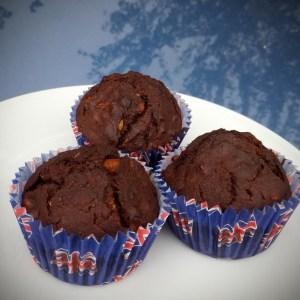 Cocoa & oat muffins