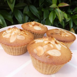 Orange & almond cupcakes with marzipan