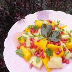 Pineapple and mango salad