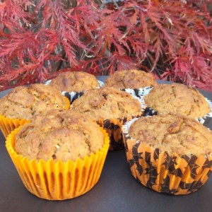 Pumpkin and oat muffin