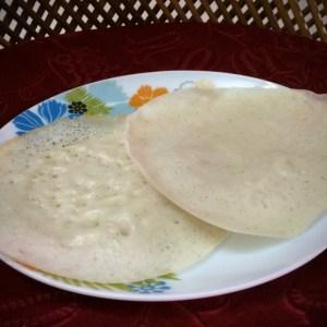 Vellapam (Rice Pancakes)