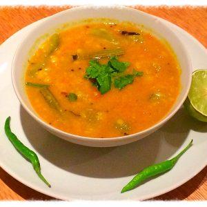 Sambar (Lentils with veggies)