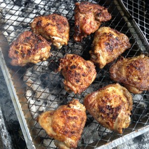 Moroccan-style BBQ chicken