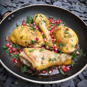 Moroccan chicken with pomegranate