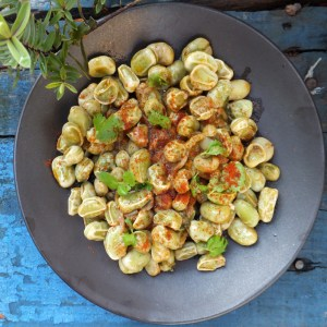 Spiced broad beans