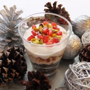 Amaretti & pomegranate trifle